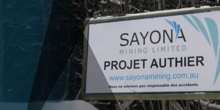 Sayona Submits Bid For North American Lithium