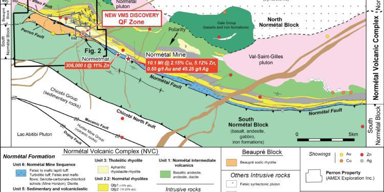 Amex Exploration Makes Copper Rich VMS Discovery At Perron