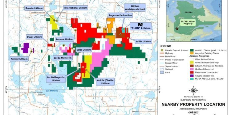 Musk Metals Completes Field Survey on Its Elon Lithium Property