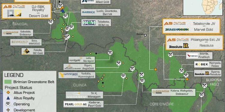 Altus Strategies Confirms New Parallel Gold Zone At Tabakorole