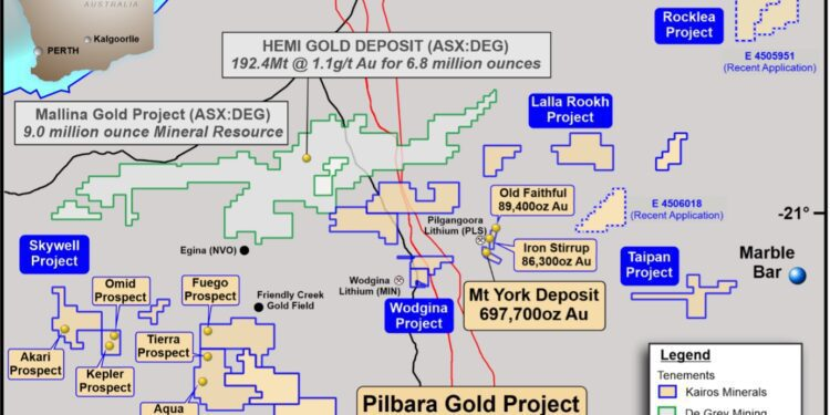 Kairos Minerals Adds Significantly To Pilbara Footprint