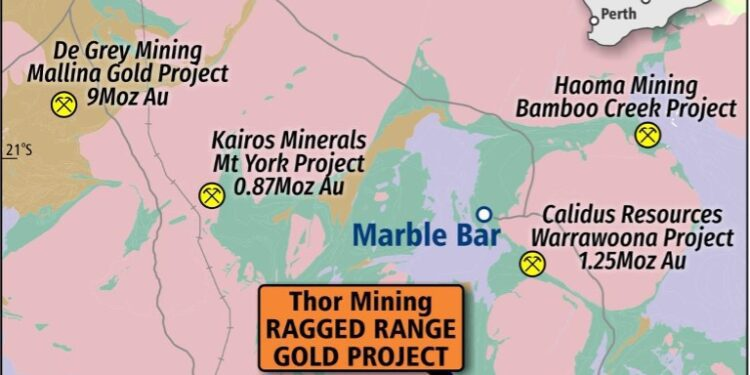Thor Mining Defines New Gold Drill Targets At Ragged Range